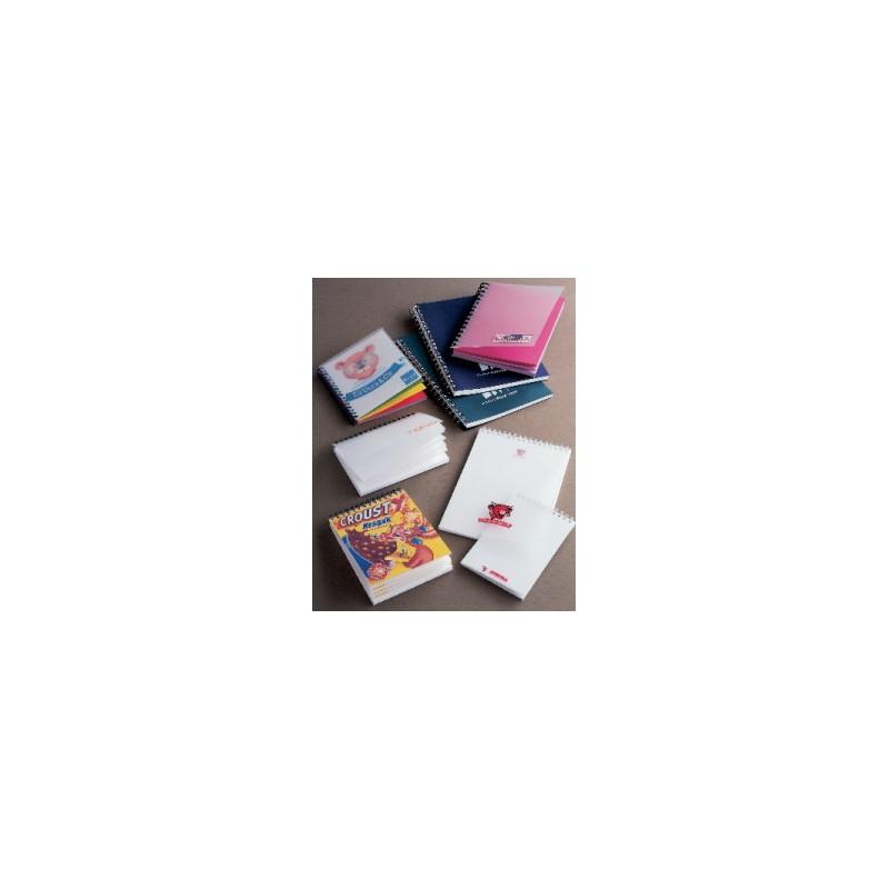 Bloc note couverture  Transparente  - Bloc-notes, carnet, cahier personnalisé
