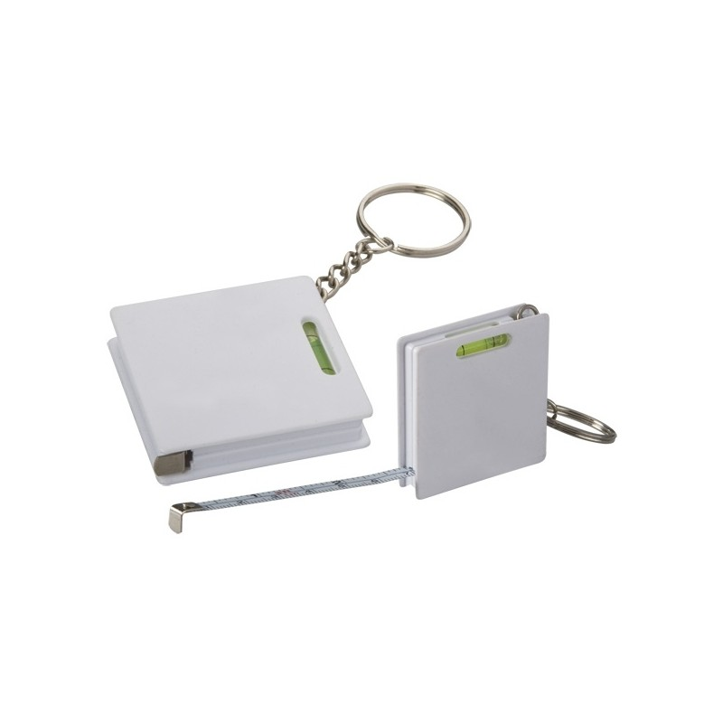 Mètre-ruban porte-clefs Level - Mètre ruban personnalisé