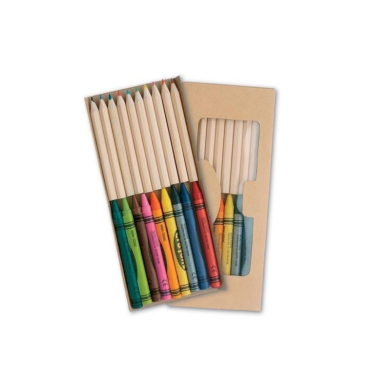 Crayons de couleur 19 pièces  - Ensemble de coloriage publicitaire