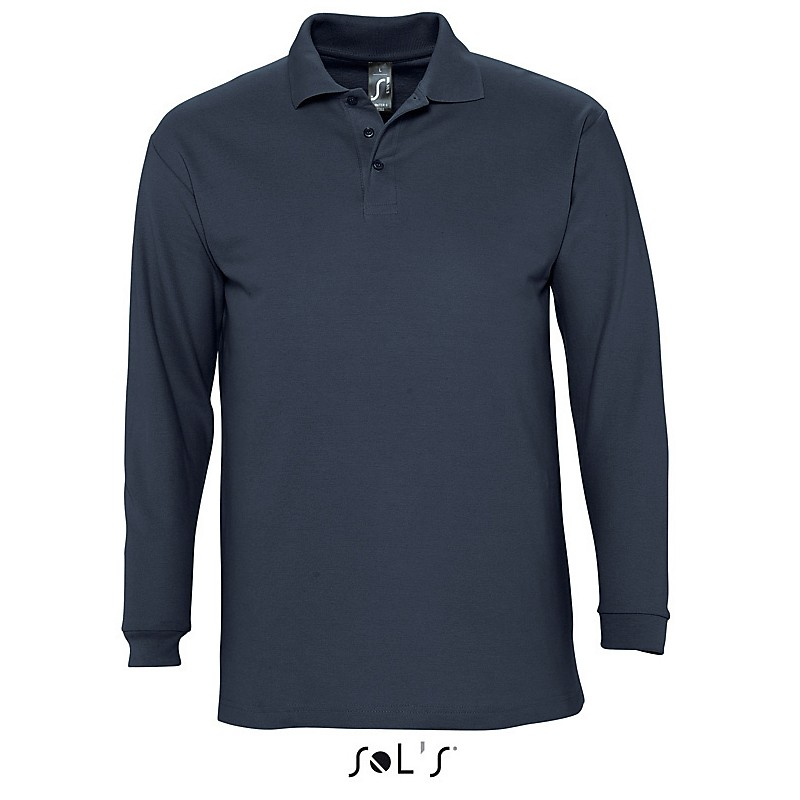 Polo homme Winter II - Polo manches longues publicitaire