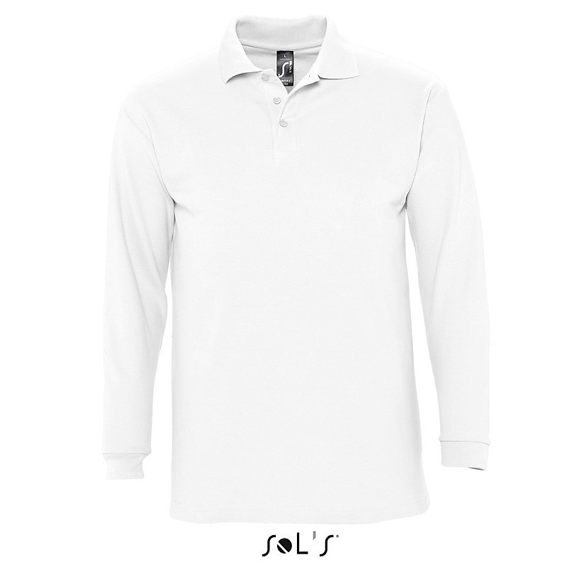 Polo homme Winter II - Polo manches longues - objets promotionnels