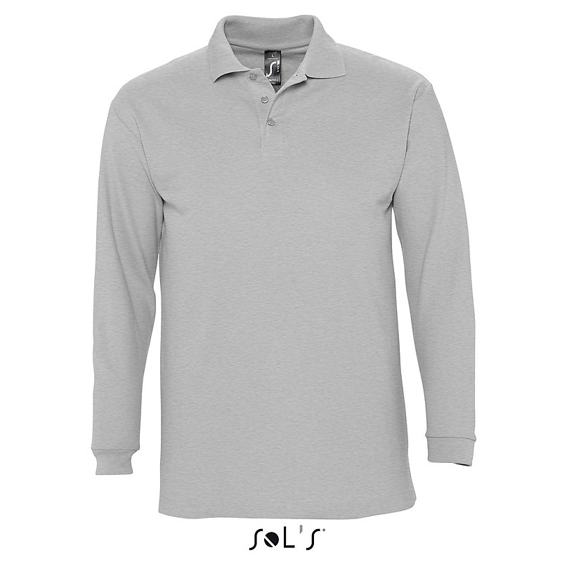 Polo homme Winter II - Polo manches longues - objets publicitaires