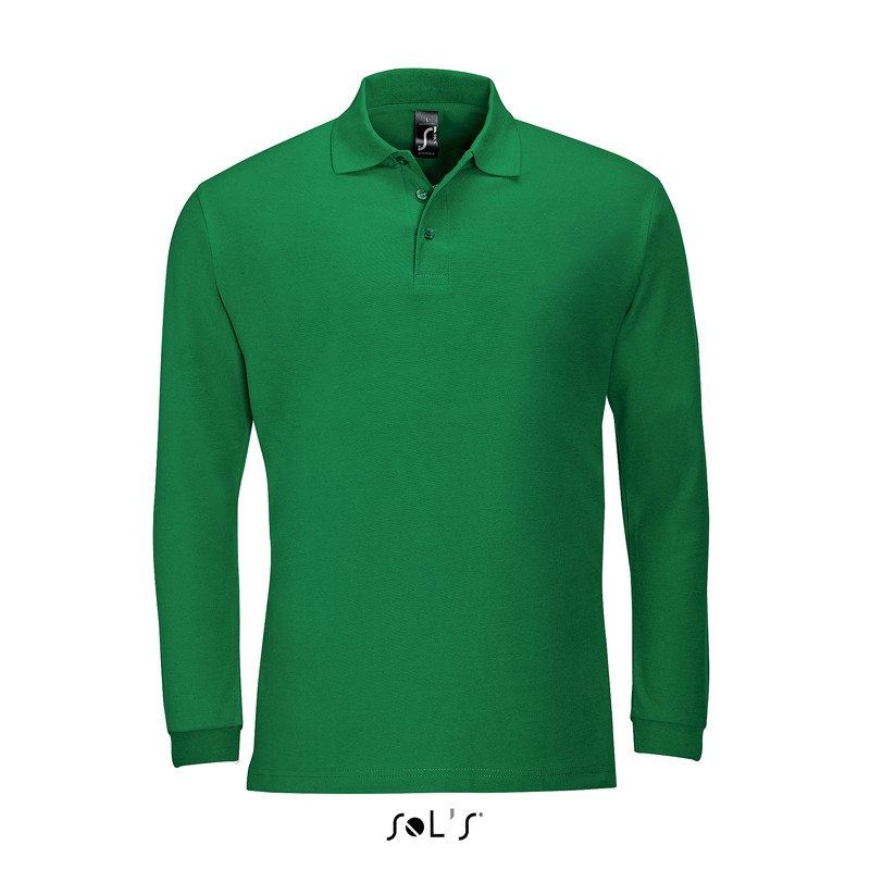 Polo homme Winter II - Polo manches longues - marquage logo