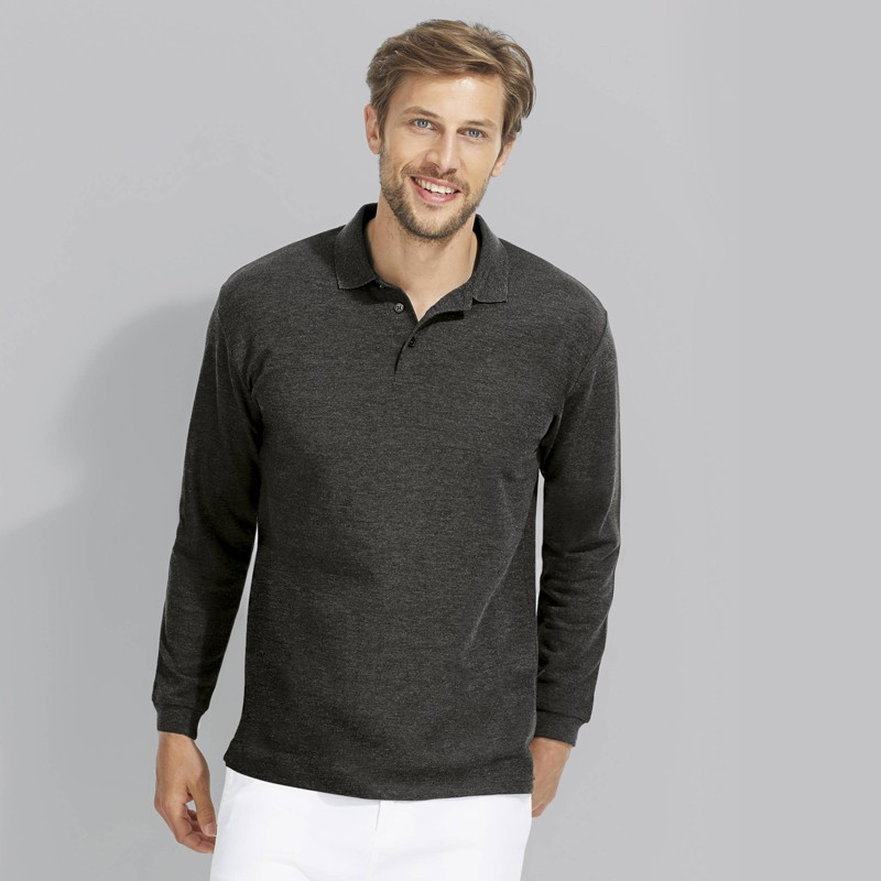 Polo homme Winter II - Polo manches longues personnalisé