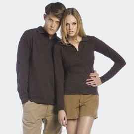 Polo homme manches longues Safran B&C