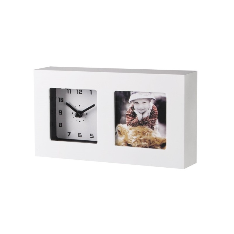 horloge de bureau twin avec cadre photo horloges et pendules. Black Bedroom Furniture Sets. Home Design Ideas
