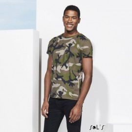 T-shirt col rond Camo Men