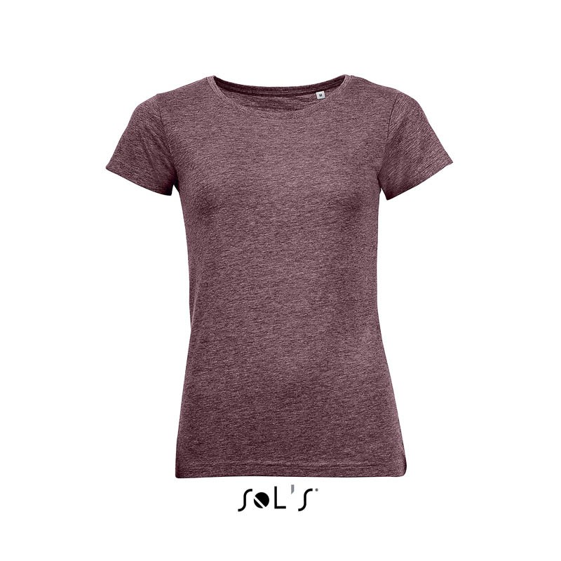 T-shirt femme à col rond Mixed  - T-shirt manches courtes - marquage logo