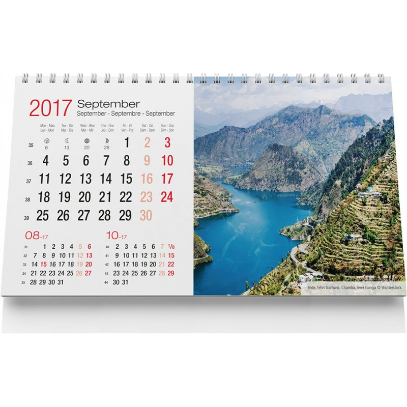 Calendrier chevalet Travel - Calendrier publicitaire