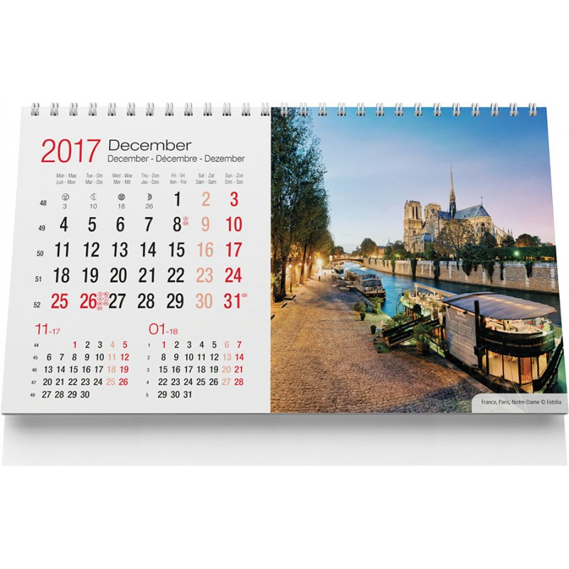 Calendrier chevalet Travel - Calendrier - objets promotionnels