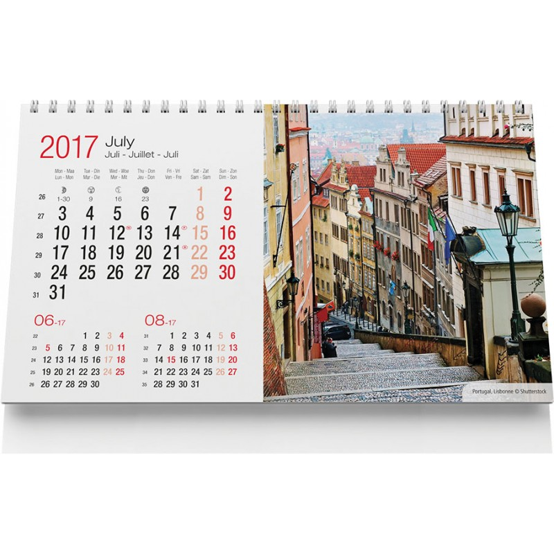 Calendrier chevalet Travel - Calendrier - produits incentive
