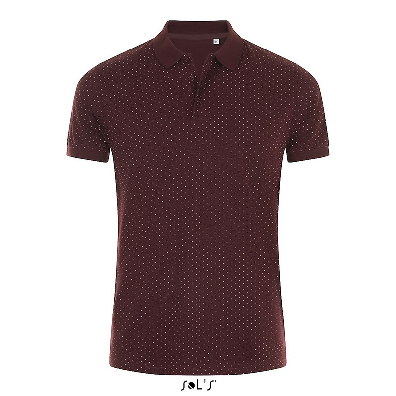 Polo à pois Brandy men - Polo homme sur mesure