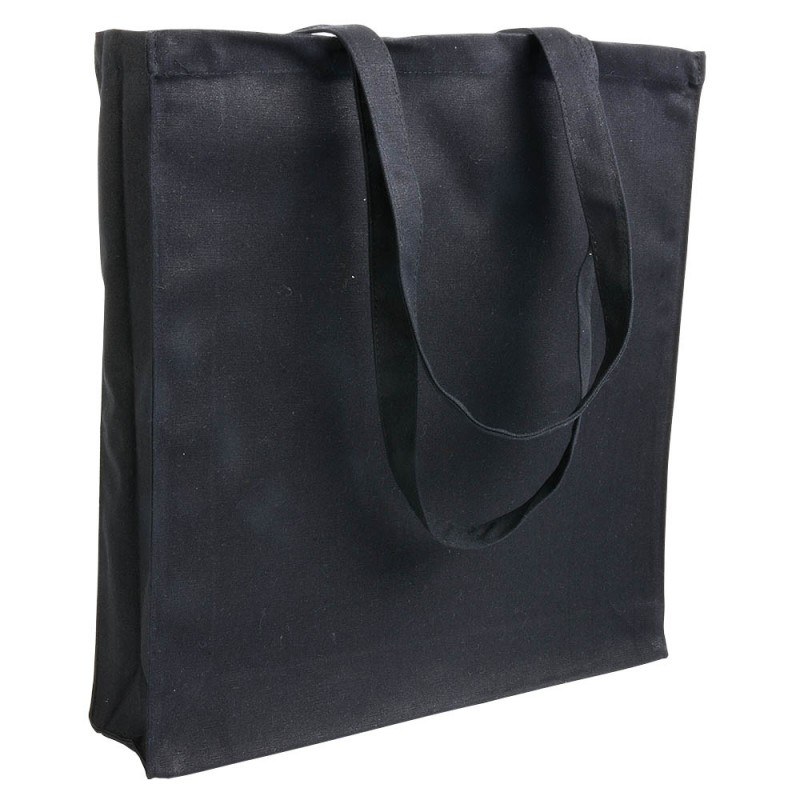 Tote bag canvas à soufflet 280g/m2 - Tote bag  publicitaire