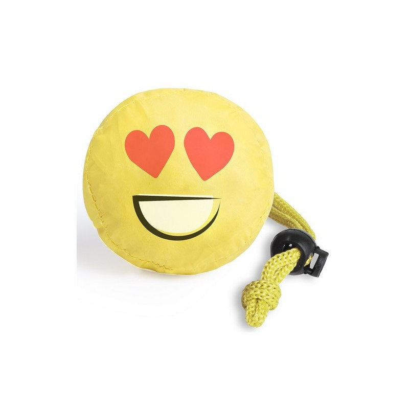 Sac shopping pliable emoji - Emoji et smiley publicitaire