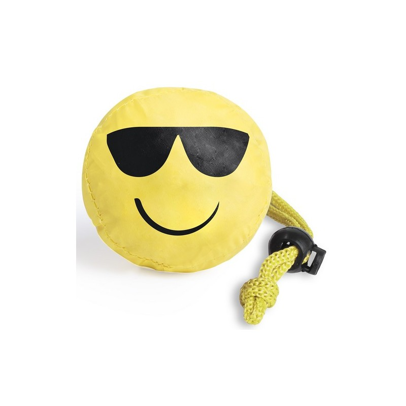 Sac shopping pliable emoji - Emoji et smiley sur mesure