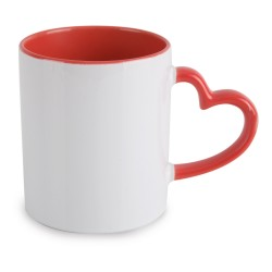 Mug sublimation coeur