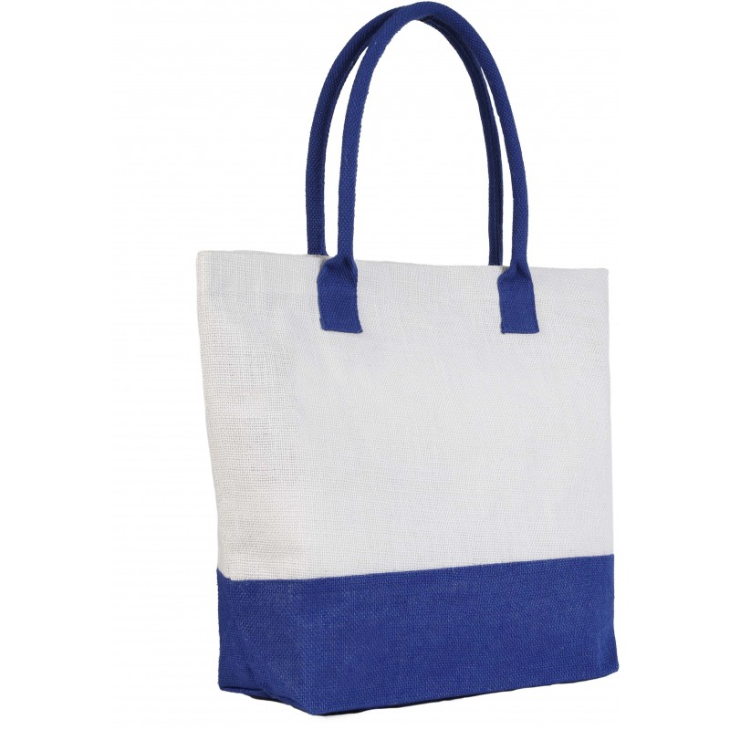 Sac shopping jute bicolore - Autres sacs shopping - objets promotionnels