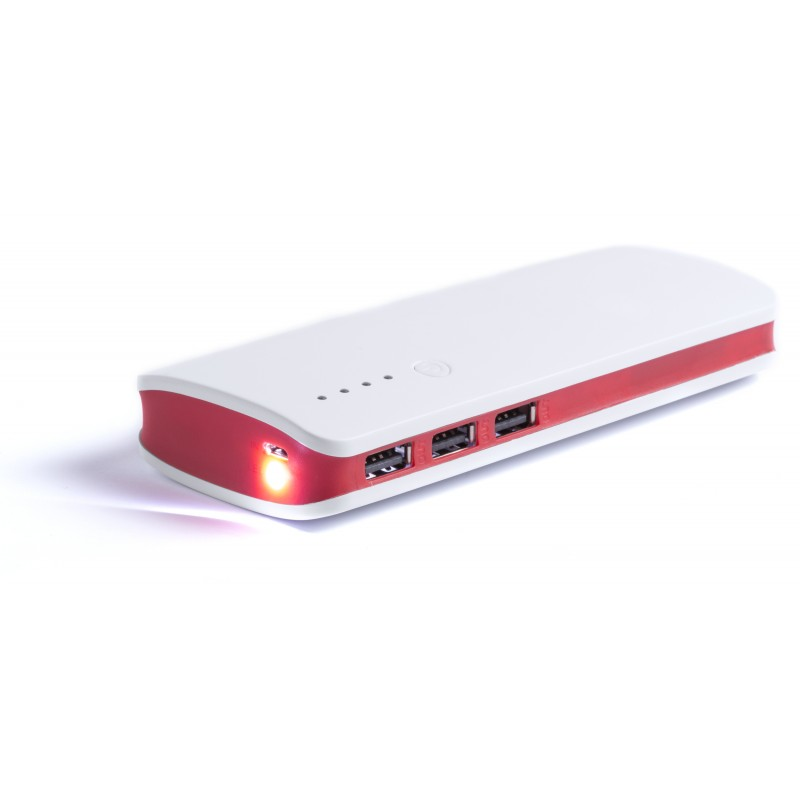 Power bank 3 ports USB - Batterie externe personnalisé