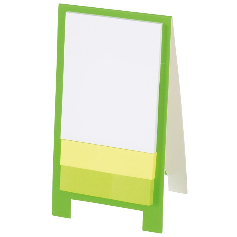 Mini chevalet de bureau - Post-it publicitaire, bloc-mémo publicitaire