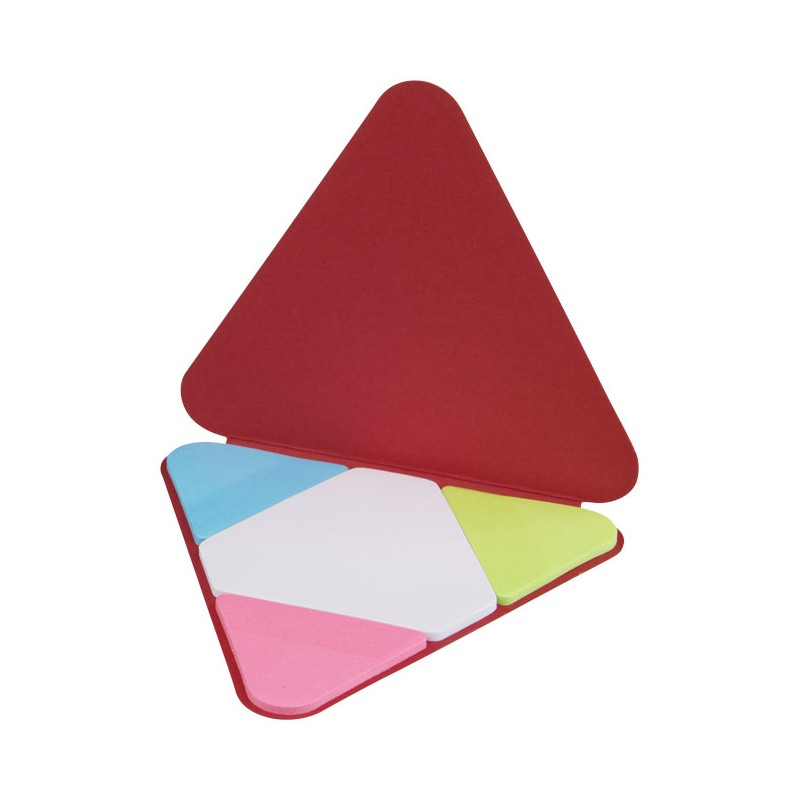 Memo autocollant triangle - Post-it, bloc-mémo - marquage logo
