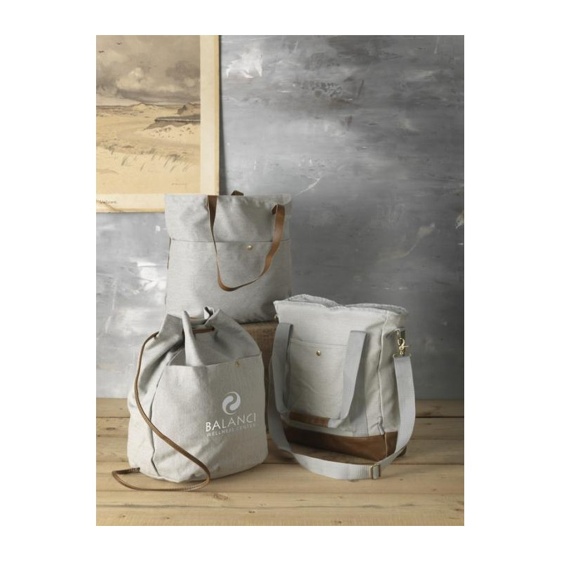 Sac shopping zippé canvas  - Sac shopping en coton publicitaire