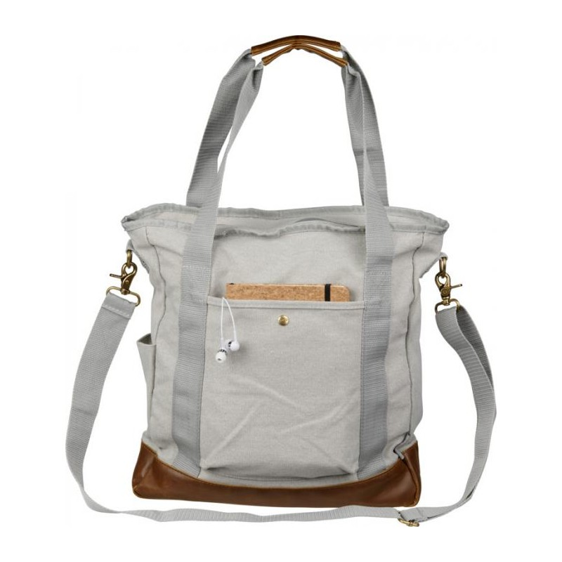 Sac shopping zippé canvas  - Sac shopping en coton sur mesure