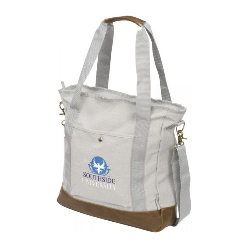 Sac shopping zippé canvas  - Sac shopping en coton - objets promotionnels