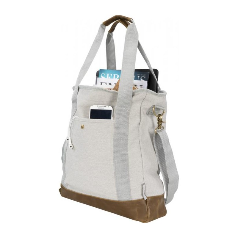 Sac shopping zippé canvas  - Sac shopping en coton - cadeaux d'affaires