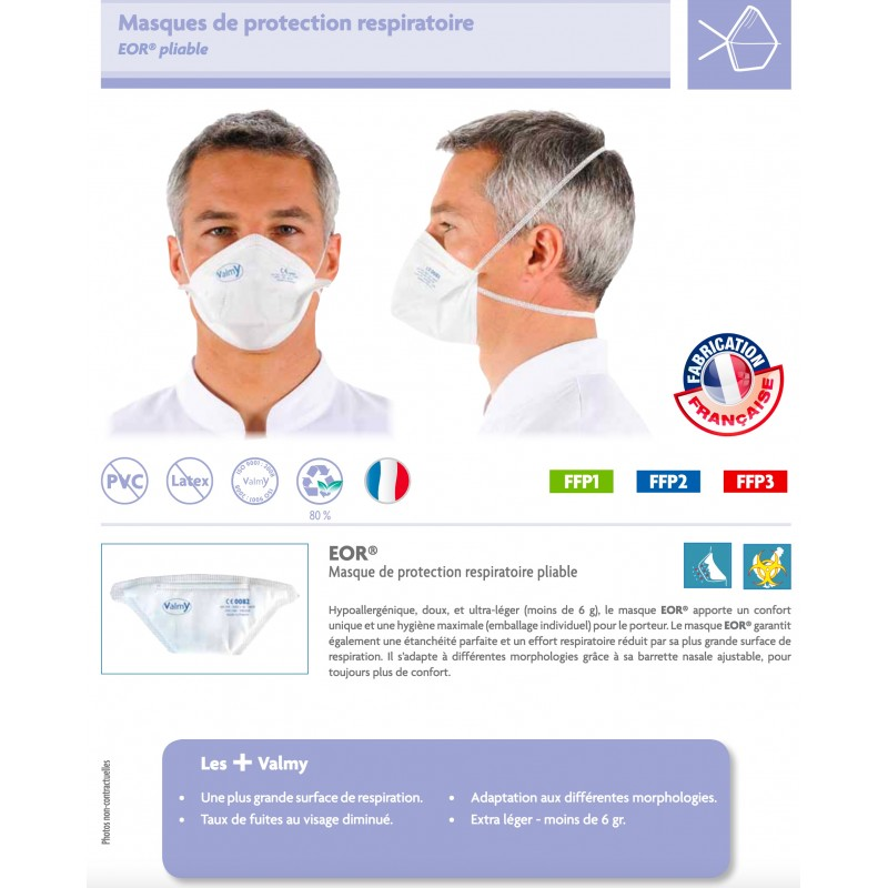 masques protection respiratoire virus