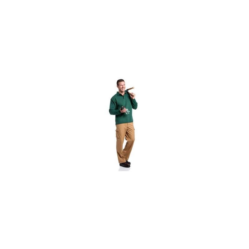 Sweat-shirt à col polo Workwear Russell - Sweat-shirt - marquage logo