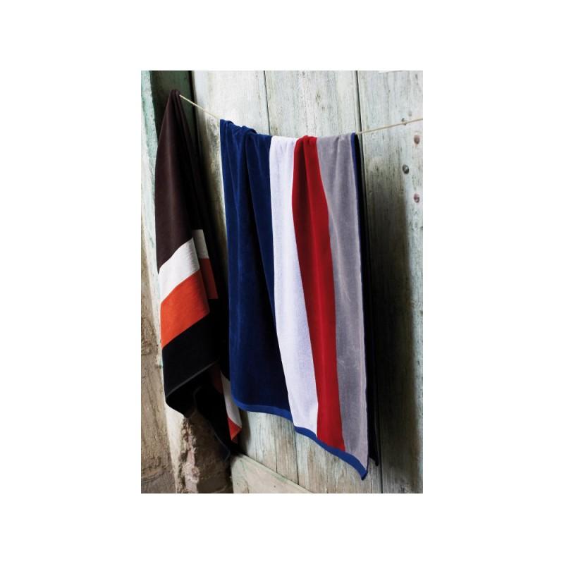 Drap de plage rayé Kariban - Serviette et gant publicitaire