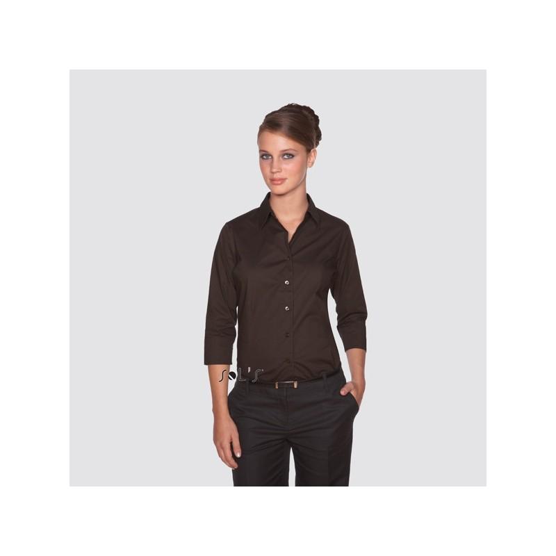 Chemise femme manches 3/4 Effect - chemise publicitaire femme - cadeau d'entreprise personnalisé