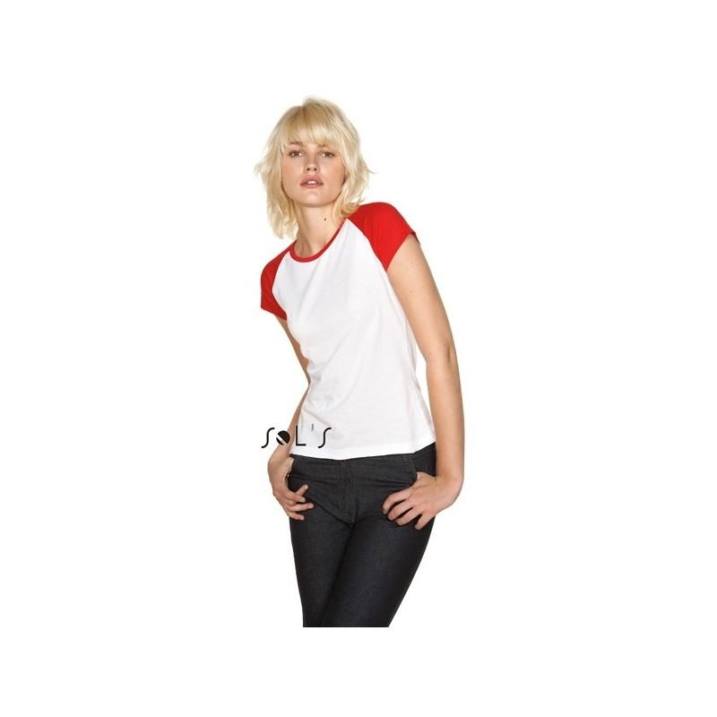 26-023 Tee shirt femme bicolore Milky personnalisé