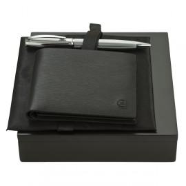 Parure portefeuille et stylo-bille Cerruti 1881