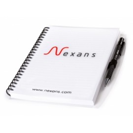 Bloc note couverture  Transparente