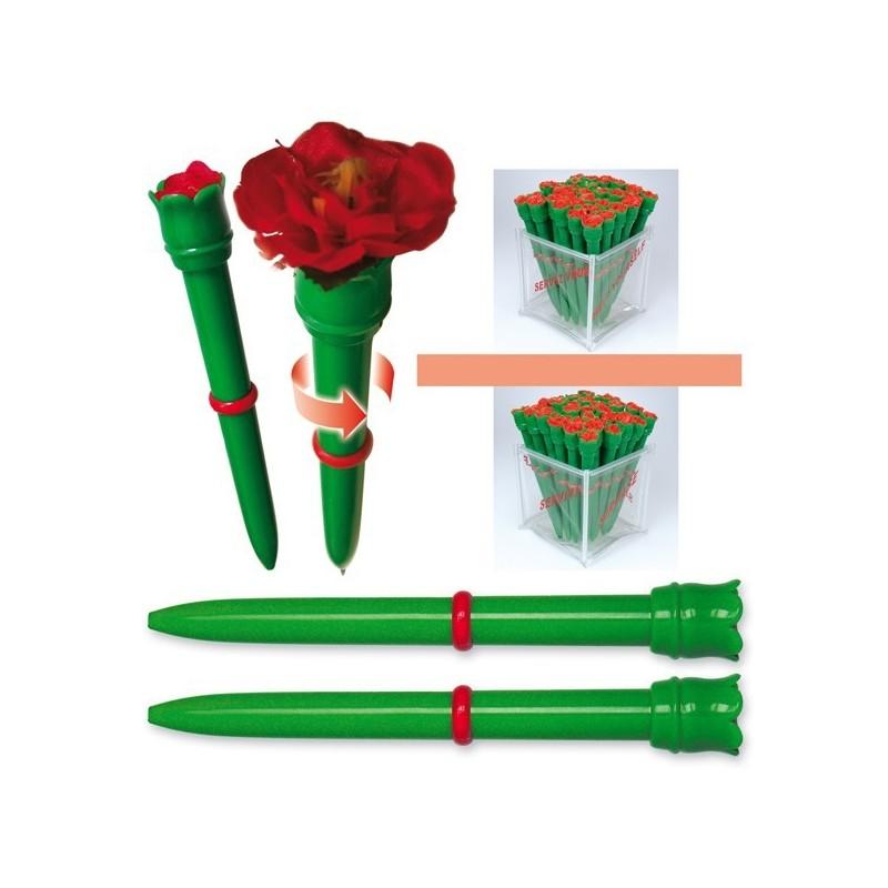 43-021 Stylo à bille fleur personnalisé