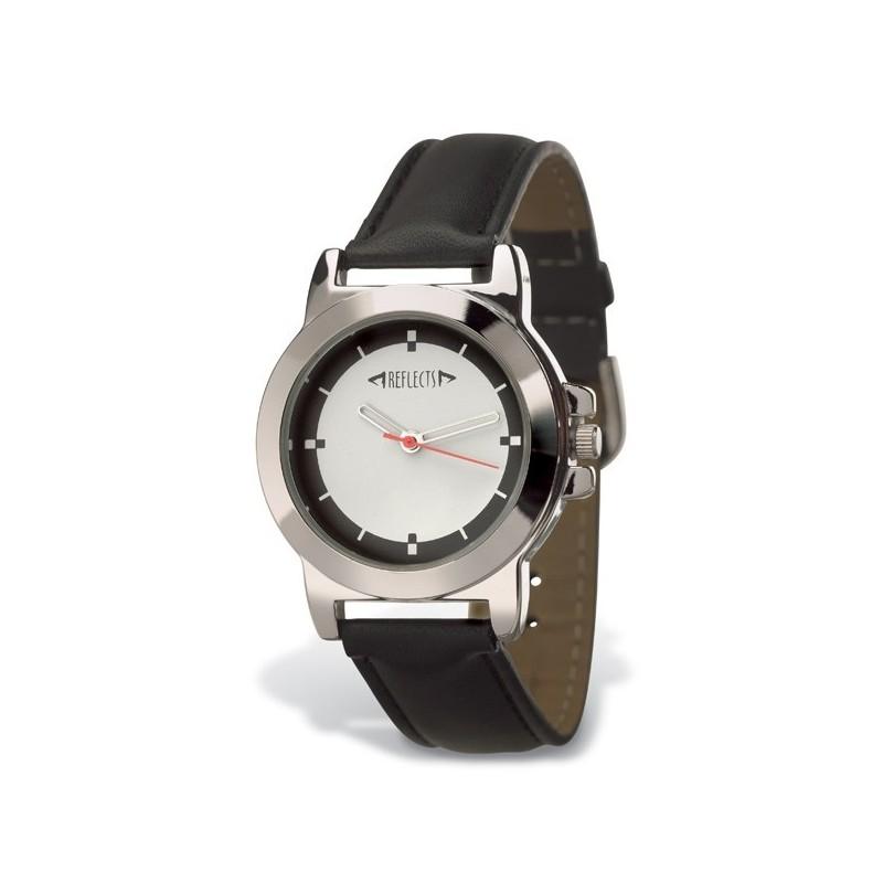 Montre-bracelet similisuir - Montre classique publicitaire