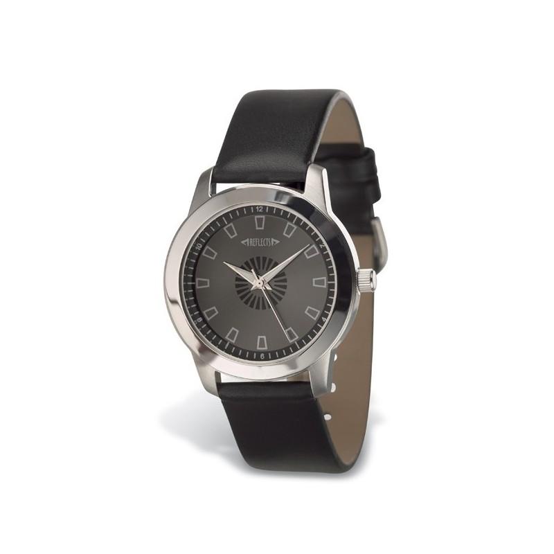 Montre avec bracelet en cuir - Montre classique publicitaire