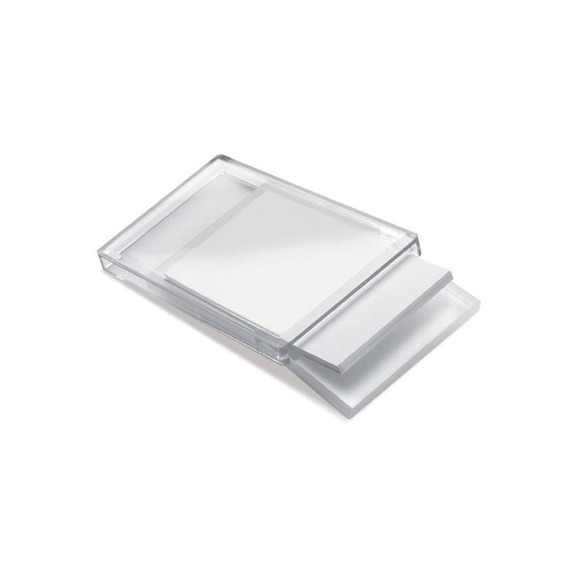 Porte cartes de visite verre acrylique - Porte-cartes de visite publicitaire