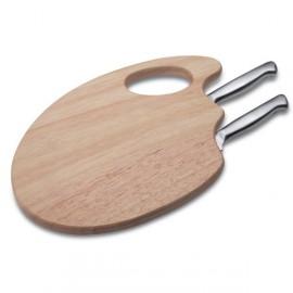 Couteau à fromage avec plateau à découper