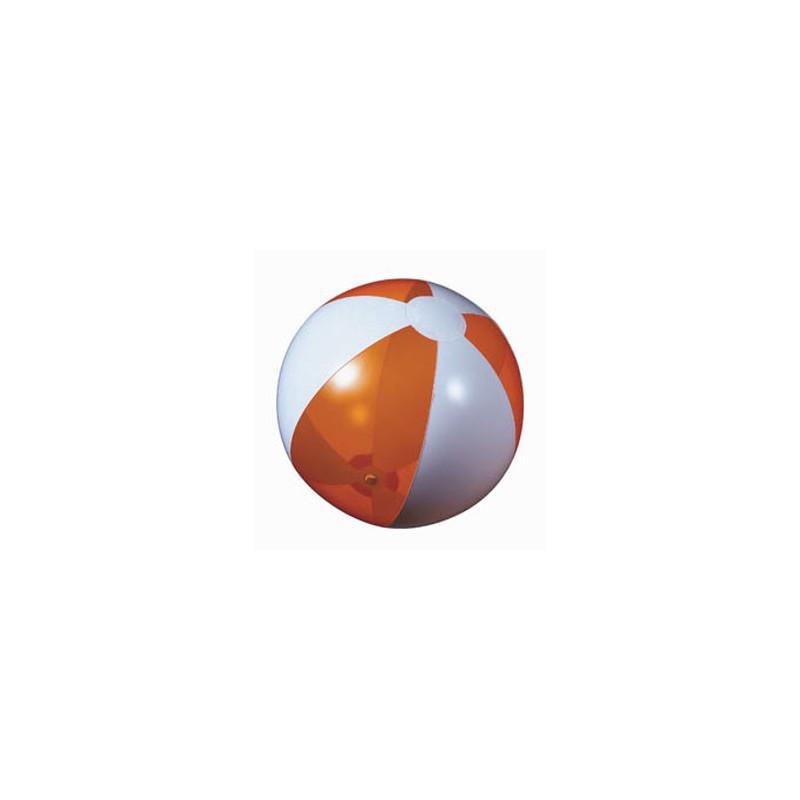 Ballon de plage plein/transparent  - Ballon de plage - marquage logo