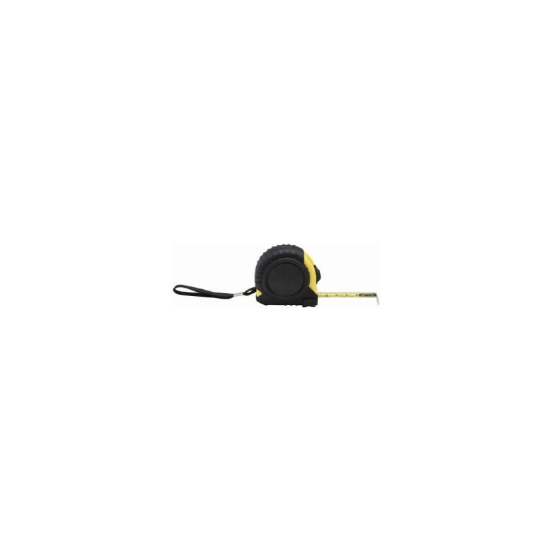 Mètre déroulant noir et jaune 3m - Mètre ruban publicitaire