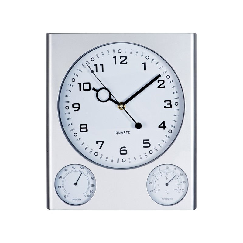 Horloge avec thermomètre  - Horloge multifonctions publicitaire
