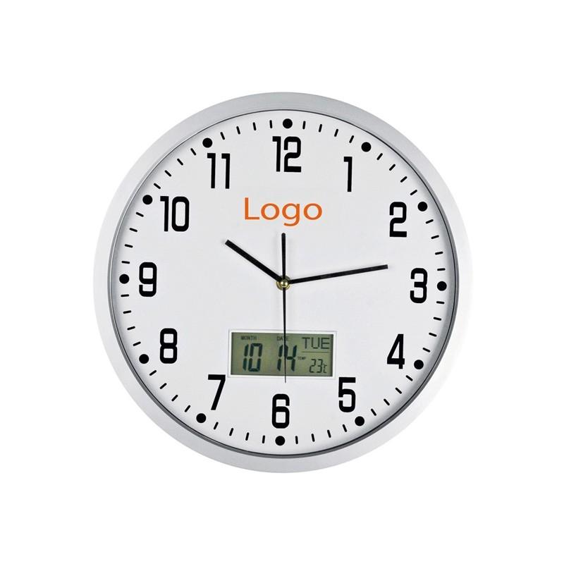 Horloge mural avec analogue digitale - Horloge murale personnalisé