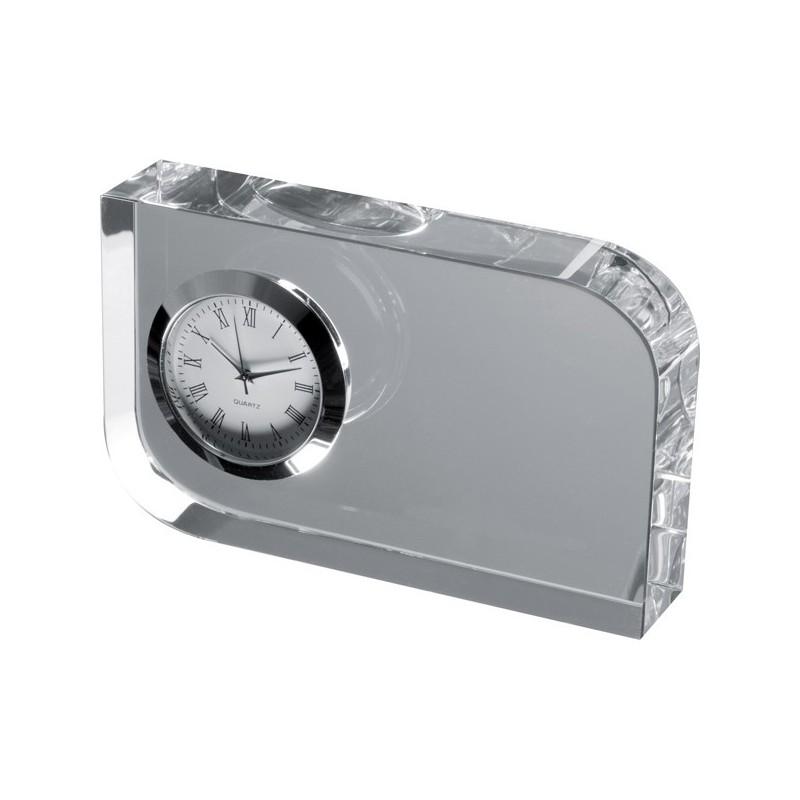 Horloge de bureau décorative en verre - Pendule de bureau personnalisé