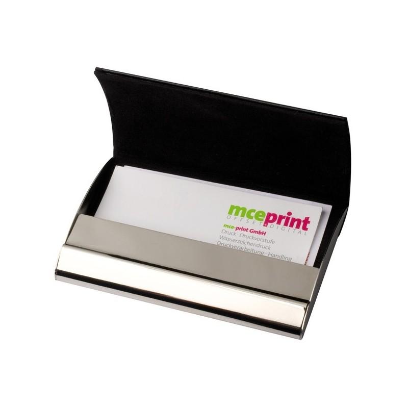 Étui à cartes de visite en métal - Porte-cartes de visite publicitaire