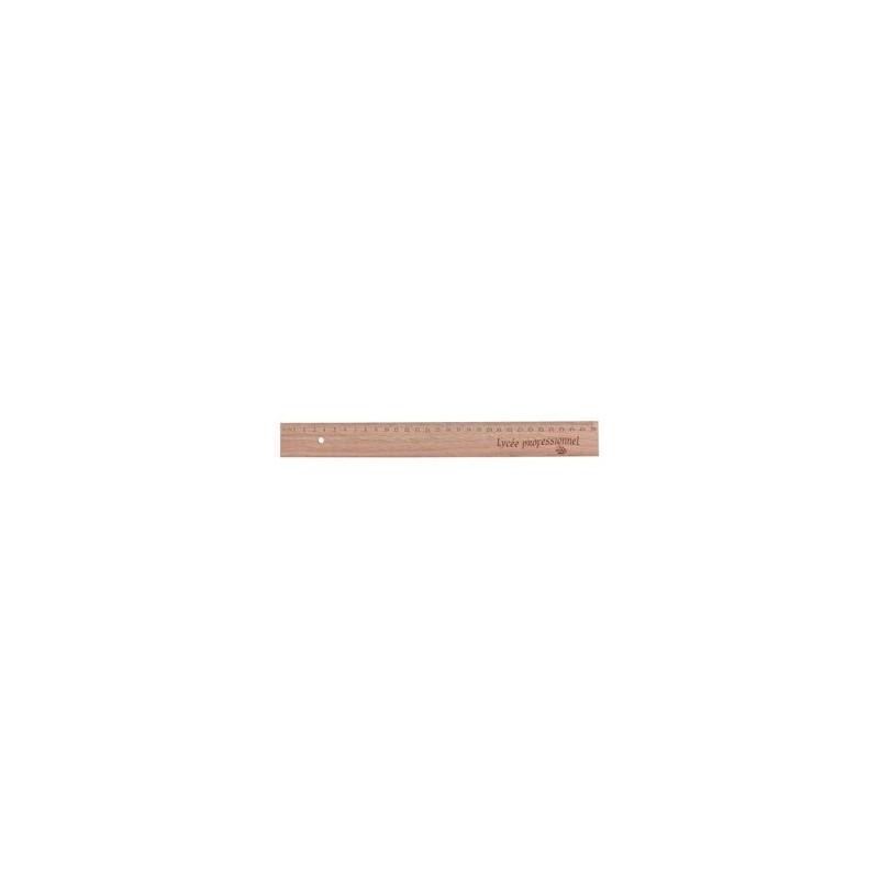 Règle en bois 30 cm - Règle - objets publicitaires