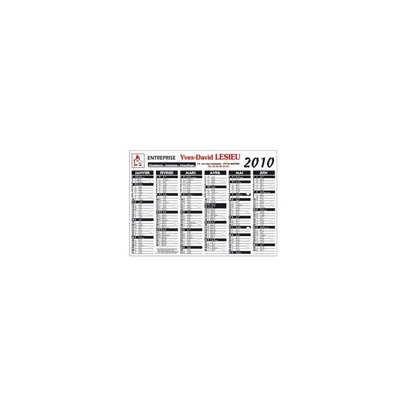 Calendrier cartonné standard  - Calendrier - objets promotionnels
