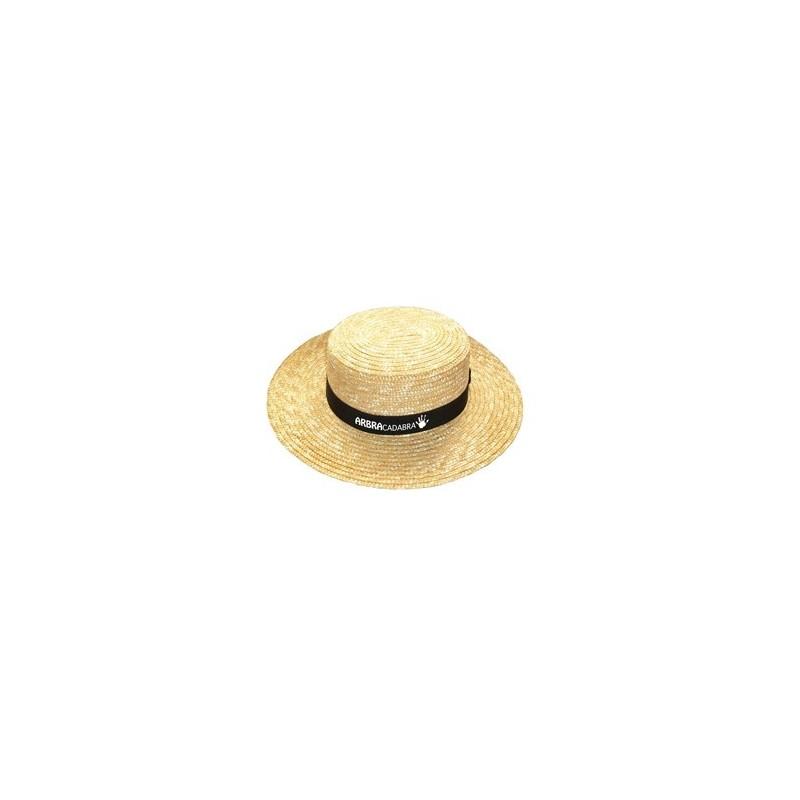 22-591 Chapeau canotier avec bandeau personnalisé