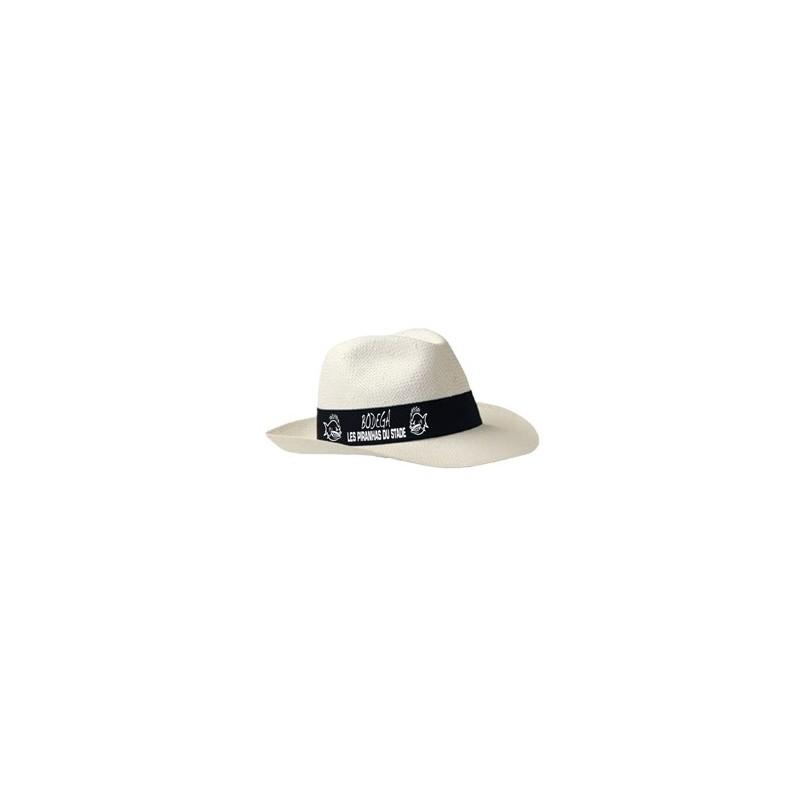22-592 Chapeau borsalino bandeau personnalisé